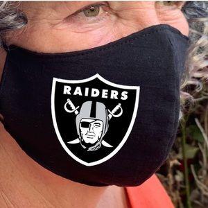www.etsy.com/shop/julkagift. RAIDERS Face Mask